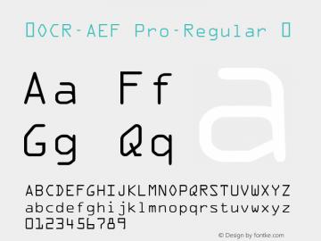 ☞OCR-AEF Pro-Regular