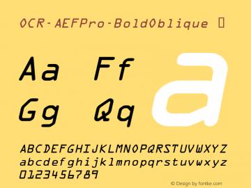 OCR-AEFPro-BoldOblique