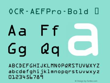 OCR-AEFPro-Bold
