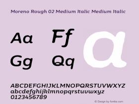 Moreno Rough 02 Medium Italic