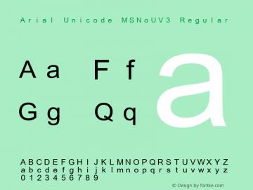 Arial Unicode MSNoUV3