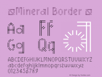 ☞Mineral Border