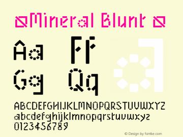 ☞Mineral Blunt