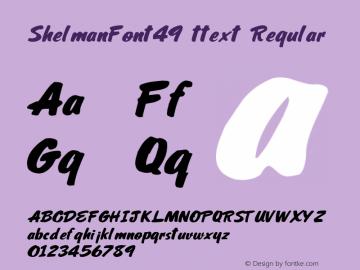ShelmanFont49 ttext