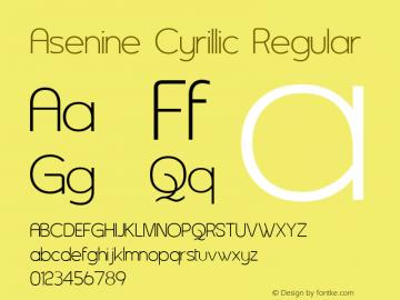 Asenine Cyrillic
