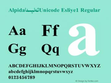Alpida_Unicode Esliye1