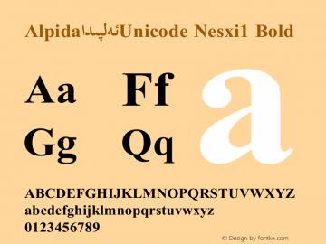 Alpida_Unicode Nesxi1