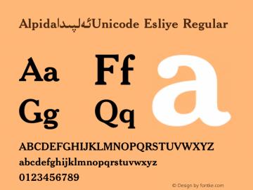 Alpida_Unicode Esliye