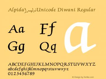 Alpida_Unicode Diwani