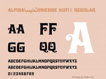 Alpida_Unicode Kufi1