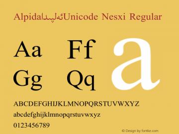 Alpida_Unicode Nesxi