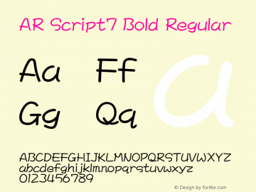 AR Script7 Bold