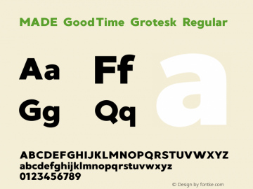 MADE GoodTime Grotesk