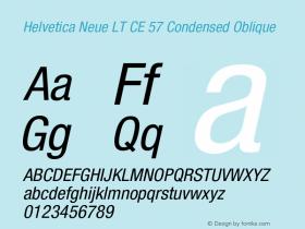 Helvetica Neue LT CE