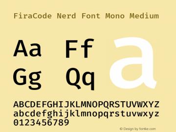 FiraCode Nerd Font Mono