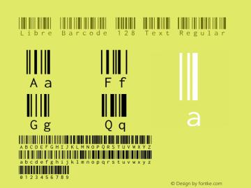 Libre Barcode 128 Text