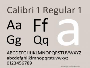 Calibri 1