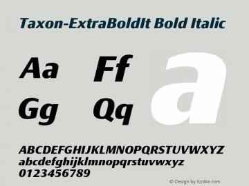 Taxon-ExtraBoldIt