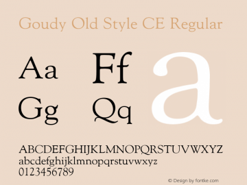 Goudy Old Style CE