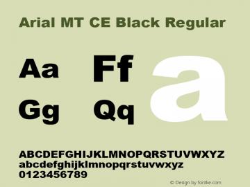 Arial MT CE Black