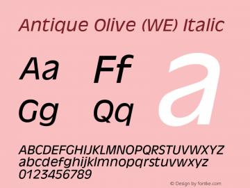 Antique Olive (WE)