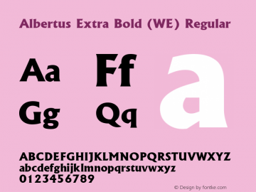 Albertus Extra Bold (WE)