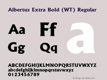 Albertus Extra Bold (WT)