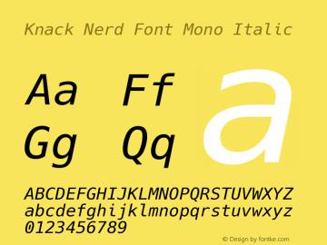 Knack Nerd Font Mono