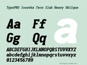 TypoPRO Iosevka Term Slab