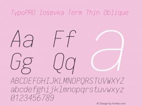 TypoPRO Iosevka Term