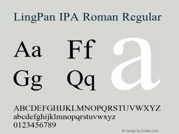 LingPan IPA Roman
