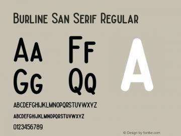 Burline San Serif