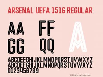 Arsenal UEFA 1516