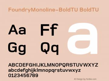 FoundryMonoline-BoldTU