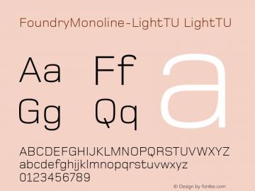 FoundryMonoline-LightTU