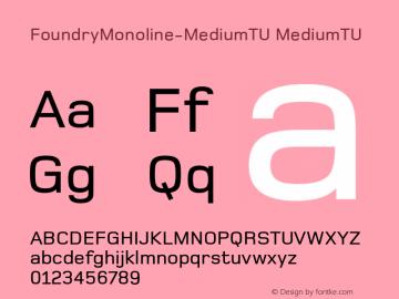 FoundryMonoline-MediumTU