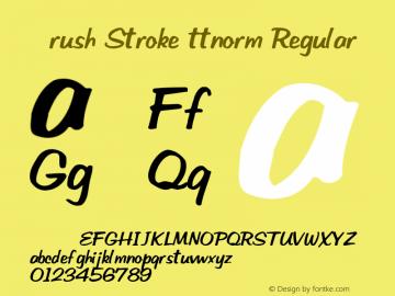 Brush Stroke ttnorm