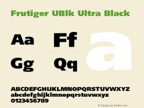 Frutiger UBlk