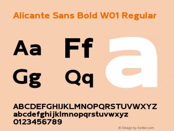 Alicante Sans Bold W01