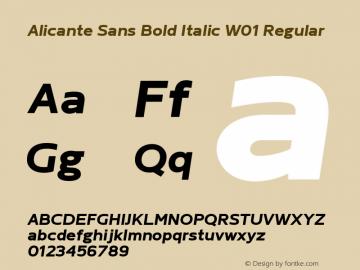 Alicante Sans Bold Italic W01