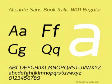 Alicante Sans Book Italic W01