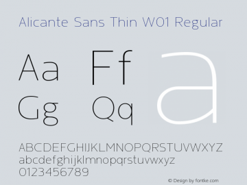 Alicante Sans Thin W01