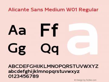 Alicante Sans Medium W01