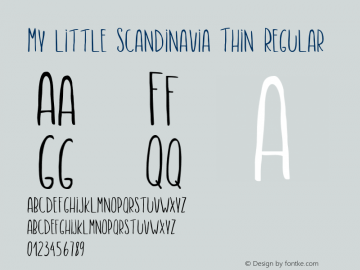 My little Scandinavia Thin
