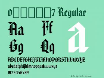 0哥特式字体7