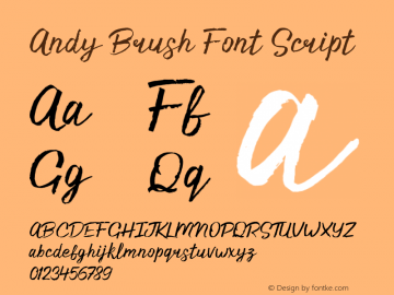 Andy Brush Font