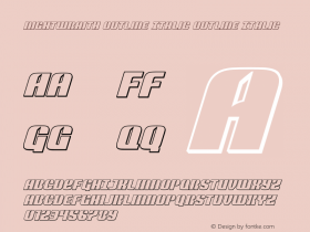 Nightwraith Outline Italic