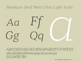 Mediator Serif Web