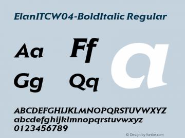 ElanITCW04-BoldItalic