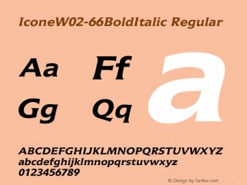 IconeW02-66BoldItalic